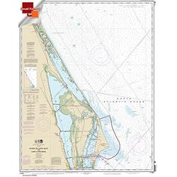 NOAA Chart 11484: Ponce de Leon Inlet to Cape Canaveral 21.00 x 26.53 (Small Format Waterproof)