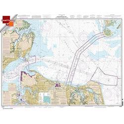 NOAA Chart 12222: Chesapeake Bay Cape Charles to Norfolk Harbor 21.00 x 27.39 (Small Format Waterproof)