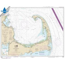 NOAA Chart 13246: Cape Cod Bay, 34.2 X 42.4, Waterproof
