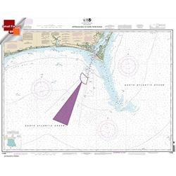 NOAA Chart 11536: Approaches to Cape Fear River 21.00 x 26.47 (Small Format Waterproof)