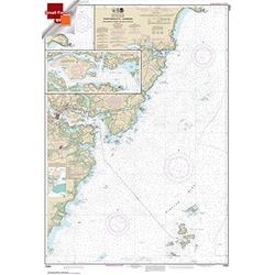 NOAA Chart 13283: Portsmouth Harbor Cape Neddick Harbor to Isles of Shoals; Portsmouth Harbor 21.00 x 30.35 (Small Format Waterproof)