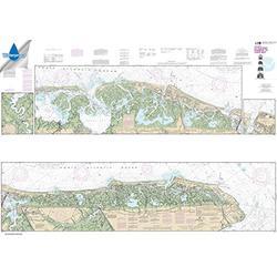 Paradise Cay Publications NOAA Chart 12316: Intracoastal Waterway Little Egg Harbor to Cape May; Atlantic City 41.5 x 58.7 (Waterproof)