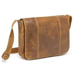 Le Donne Leather Distressed Leather Laptop Messenger DS-1009