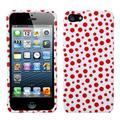 Insten Red Mixed Polka Dots Phone Case for Apple iPhone SE / 5S / 5