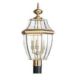 SEA GULL 8239-02 Three Light Outdoor Post Lantern,Polishe
