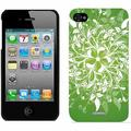 Leafy Bliss Green Design on Apple iPhone 4/4s Thinshield Snap-On Case by Coveroo