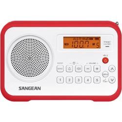 AM/FM CLOCK PORTACBLE DIGITAL RADIO 10 STATION LCD DISPLAY RED