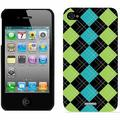 Argyle Green with Envy Design on Apple iPhone 4/4s Thinshield Snap-On Case by Coveroo
