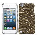 Insten Tiger Skin (Camel/Brown) Diamante Phone Back Case for iPod Touch 6 6th 5 5th Gen
