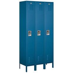 Salsbury Industries 61365BL-U Single Tier 36-Inch Wide 6-Feet High 15-Inch Deep Unassembled Standard Metal Locker, Blue