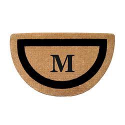 Classic Border Half-round Monogrammed Coco Door Mat - No Monogram Letter - Frontgate