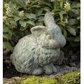 Campania International A-030-GS Rabbit with 1 Ear up Statue, Grey Stone Finish