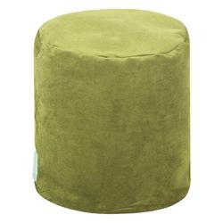 """Majestic Home Goods Villa 16"""" Wide Round Pouf Ottoman Polyester/Polyester Blend in Green, Size 17.0 H x 16.0 W x 16.0 D in 