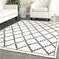 Safavieh Mosaic Geometric Hand Knotted Wool Cream Area Rug Viscose/Wool in White, Size 120.0 H x 96.0 W x 0.25 D in | Wayfair MOS157A-8