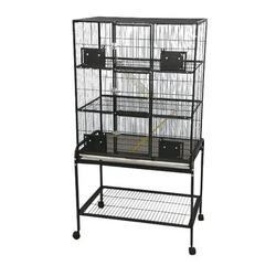 "A&E Cage Co. 3 Level Small Animal Cage w/ Removable Base in Platinum, Size 63""H X 32""W X 21""D 