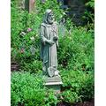 Campania International R-031-GS St. Fiacre Statue, Grey Stone Finish