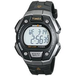 Timex Men's T5K821 Ironman Classic 30 Black/Orange Resin Strap Watch