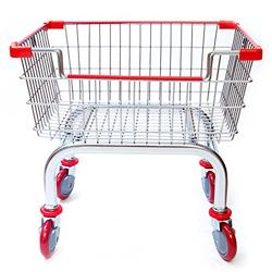 CART&SUPPLY Coin Laundry Cart, [Heavy Duty][Rolling Cart] Laundry Cart [Chrome] Without Pole Rack