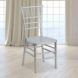 Flash Furniture Flash Elegance Wood Chiavari ChairPlastic/Acrylic/Plastic in Gray, Size 36.5 H x 15.75 W x 36.25 D in   Wayfair LE-SILVER-GG