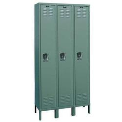 HALLOWELL U3226-1HG Wardrobe Locker, 36 in W, 12 in D, 66 in H, (1) Tier, (3)