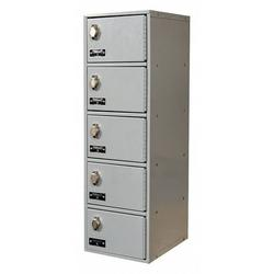 HALLOWELL UCTL192(30)-5A-PL Cell Phone Locker,9inWx12inDx30-1/2inH