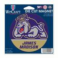 James Madison Dukes Official NCAA 4.5 inch x 6 inch Car Magnet by Wincraft