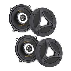 2-Way Universal Car Stereo Speakers - 180W Dual 6.5 Inch Universal OEM Quick Replacement Component Speakers Vehicle Door/Side Panel Mount Compatible, Pro Audio Car Speakers - Lanzar DCT65.2 (Pair)