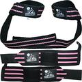 Wrist Wraps + Lifting Straps Bundle (2 Pairs) for Weightlifting, Cross Training, Workout, Gym, Powerlifting, Bodybuilding -Support for Women & Men, No Injury During Weight Lifting-Pink
