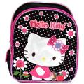 "Hello Kitty Girl's Flowers Black/Pink 12"" Backpack 05313"