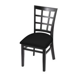Holland Bar Stool Solid Wood Dining ChairFaux Leather/Wood/Upholstered in Black, Size 33.0 H x 17.0 W x 21.0 D in   Wayfair 313018BlkBlkVinyl