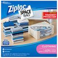 Ziploc Space Bags, Storage for Clothes, Waterproof, Reusable, 4 Large Bags and 1 Jumbo Tote