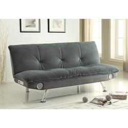 Wildon Home® Convertible Sofa Velvet/Metal, Size 19.0 H x 73.0 W x 33.5 D in | Wayfair 611157