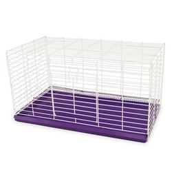 "Ware Manufacturing Chew Proof Rabbit Cage, Metal in Purple/White, Size 12""H X 30""W X 15""D 