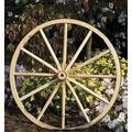 Decorative - Wood Wagon Wheel - 42 Inch x 2 Inch Steam Bent Hickory Wagon Wheel with wooden hub
