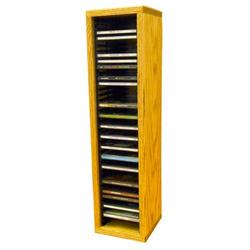 Wood Shed Multimedia Storage Rack Wood/Solid Wood in Brown, Size 26.88 H x 6.75 W x 6.75 D in   Wayfair 109-2 / Clear