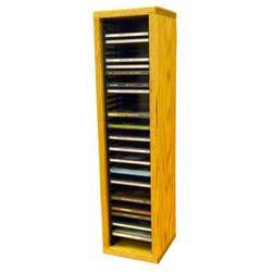 Wood Shed Multimedia Storage Rack Wood/Solid Wood in Black, Size 26.88 H x 6.75 W x 6.75 D in | Wayfair 109-2 / Dark
