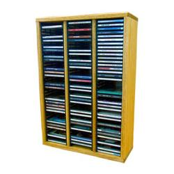 Wood Shed Multimedia Storage Rack Wood/Solid Wood in Brown, Size 26.88 H x 18.75 W x 6.75 D in | Wayfair 309-2 / Honey Oak
