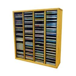 Wood Shed Multimedia Storage Rack Wood/Solid Wood in Brown, Size 26.88 H x 24.75 W x 6.75 D in   Wayfair 409-2 / Clear