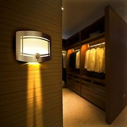 Worldoor 10 LED Wireless Light-operated Motion Sensor Activated Battery Operated Sconce Wall Light / Motion Sensor Light, Motion Detector LED Wall Light, Motion Sensor Activated Battery Operated, For Hallway, Pathway, Staircase, Garden, Yard, Wall,...