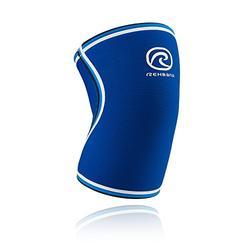 Rehband Retro Bandage Genou en néoprène 7 mm S, M, L, XL ou XXL Bleu - Bleu