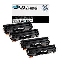 TonerPlusUSA Compatible Toner Cartridge Replacement for HP CE285A ( Black , 4-Pack )