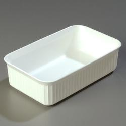 Carlisle Food Service Products Deliware® 5 lbs Rectangle Plastic Food Storage ContainerPlastic in White, Size 3.7 H x 6.18 W x 10.06 D in | Wayfair