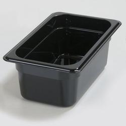 Carlisle Food Service Products Rectangle Plastic Food Storage ContainerPlastic in Black, Size 2.5 H x 10.25 W x 6.38 D in | Wayfair 3068003