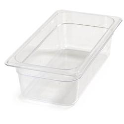 Carlisle Food Service Products Rectangle Plastic Food Storage ContainerPlastic, Size 4.0 H x 12.75 W x 7.0 D in   Wayfair 3066107