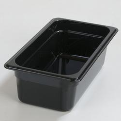 Carlisle Food Service Products Rectangle Plastic Food Storage ContainerPlastic in Black, Size 4.0 H x 12.75 W x 7.0 D in   Wayfair 3066103