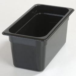 Carlisle Food Service Products Rectangle Plastic Food Storage ContainerPlastic in Black, Size 6.0 H x 12.75 W x 7.0 D in | Wayfair 3066203