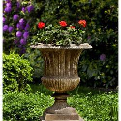 Campania International Smithsonian Cast Stone Urn Planter Concrete in Brown, Size 27.0 H x 22.5 W x 22.5 D in   Wayfair P-659-NA
