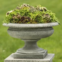 Campania International Palazzo Cast Stone Urn Planter Concrete in Brown, Size 13.5 H x 21.75 W x 21.75 D in | Wayfair P-629-BR