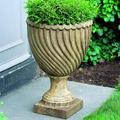 "Campania International Ravenna Cast Stone Urn Planter, Concrete in Red/Brown/Gray, Size 26""H X 18""W X 18""D   Wayfair P-348-"
