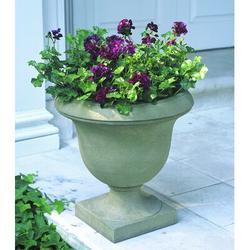 "Campania International Litchfield Cast Stone Urn Planter, Concrete in Graystone, Size 18""H X 17""W X 17""D | Wayfair P-366-GS"